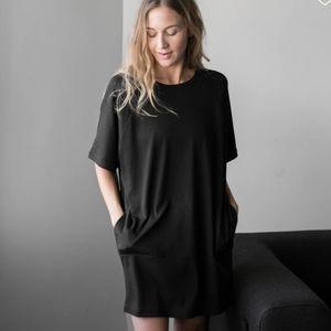 Lunya Organic Pima Dress Black